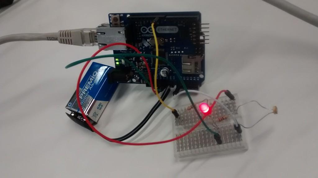 Sensor de luminosidad mini #smartSantander